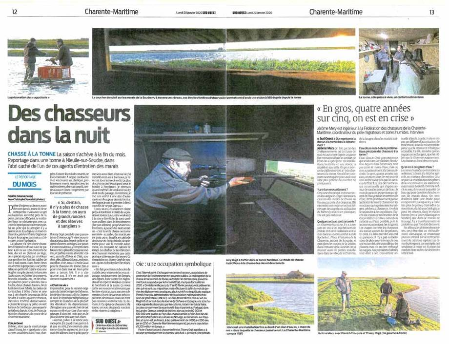 Article journal Sud-Ouest